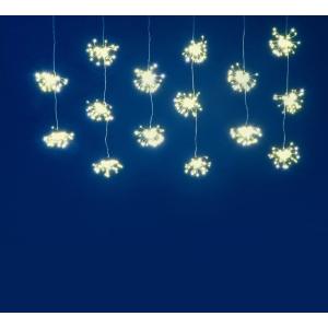 900 Warm White Micro LED Firework Burst Curtain Lights