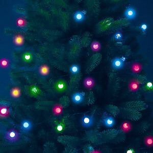 96 Frosted LED Multi Colour Ball Chain with Remote Control