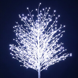 180cm White Twinkle Twig Tree with 900 White LED Lights