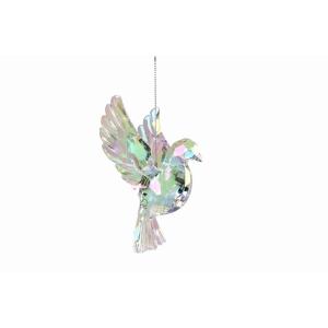 Acrylic Iridescent Flying Dove Decoration