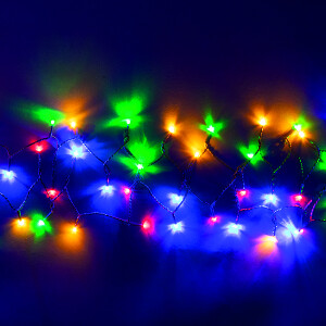 100 LED Outdoor Battery USB Lights – Multicolour