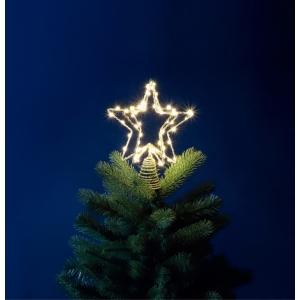 30cm 60 White LED Tree Top Star
