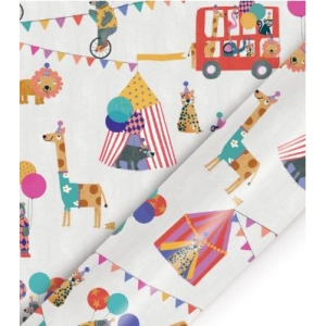 Animal Circus Kids Roll Wrap