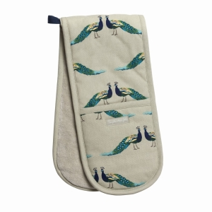 Peacocks Double Oven Glove