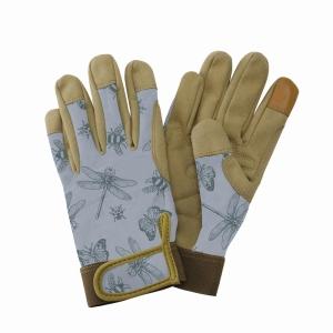 KS Comfort Gloves Flutter Bugs Blue Med