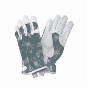 KS Leather Gloves Flutter Bugs Teal Small