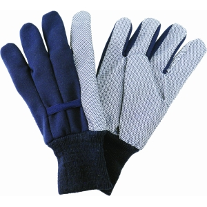 KS Jersey Cotton Grip Gloves Large Navy