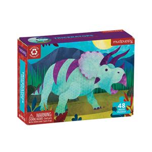 Mudpuppy Mini Puzzle – Triceratops