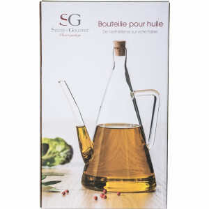 Glass Oil Can Bottle