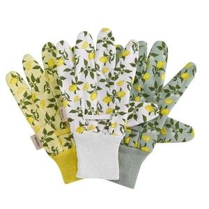 Sicillian Lemon Cotton Grip Gloves Triple Pack