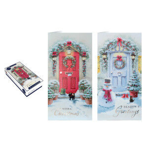 Tom Smith 20 Front Door Luxury Slim Boxed Christmas Cards