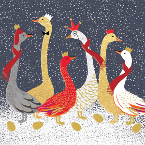 A Box of 8 Luxury Boxed Christmas Cards by Sara Miller London