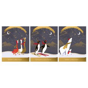 A Trio Box of 12 Art File Christmas Cards Sara Miller London