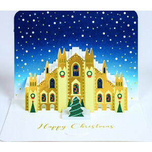 A Pack of 5 3D pop up Christmas Cards- Milan Cathedral