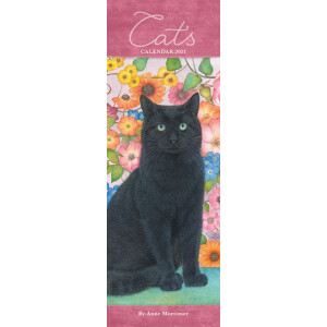 Cats By Anne Mortimer 2021 Slim Diary