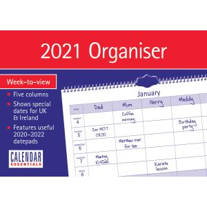 Essential Family Organiser A4 2021 Calendar