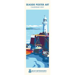 B Bettesworth Seaside Poster Art 2021 Calendar