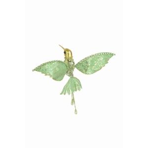 Jeweled Hummingbird Clip Jade