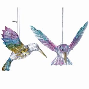 Acrylic Iridescent Hummingbird Decoration
