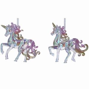 Acrylic Iridescent Unicorn Decoration