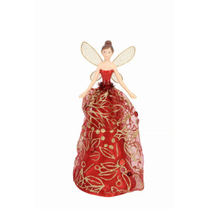 Red and Gold Treetop Fairy