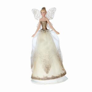 Cream and Gold Treetop Fairy