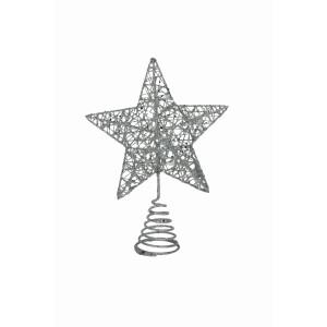 Silver Wire Mesh Treetop Star