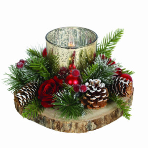 Red Festive Candle Holder