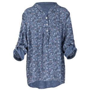 Ditsy Floral Paisley Print Shirt Denim