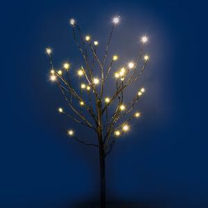 45cm Black Twig Tree with Warm White LED Micro Lights
