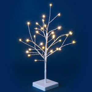 45cm White Twig Tree with Warm White LED Micro Lights