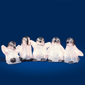 5 Baby Standing LED Penquins