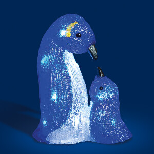 Acrylic Mother and Baby LED Penquin