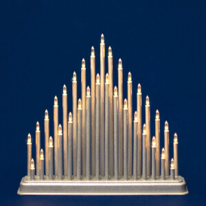 Modern Double Layered Candle Bridge in Gold