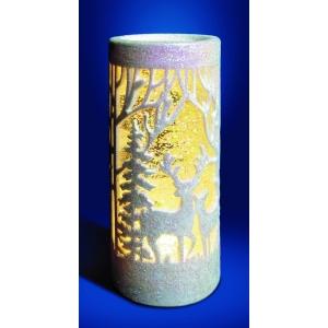 White Glitter Woodland Deer Water Spinner