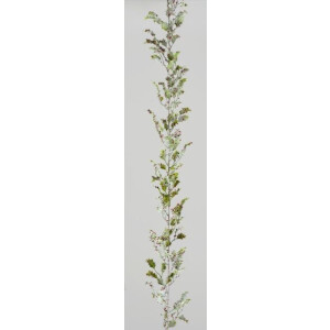 Glittered Holly and Berry 6ft Decorative Garland