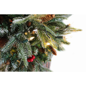1m Kensington Potted Spruce tree with Berries, Cones and LEDs