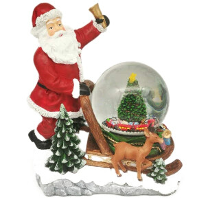 Large Snowglobe with Musical Rotating Santa and Tree Scene