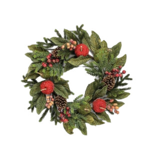 Luxury Crystalized Apple and Pear Wreath