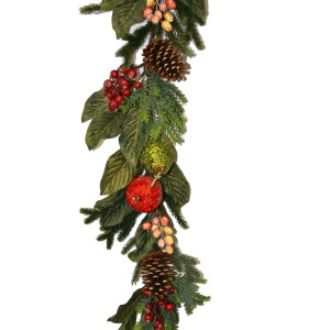 Luxury Crystalized Apple and Pear Garland 6ft