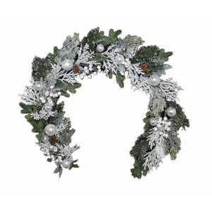 Frosted Silver Bauble Garland