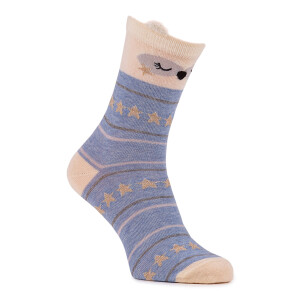 Ladies 3Pack Animal Socks In A Box Cute Animals