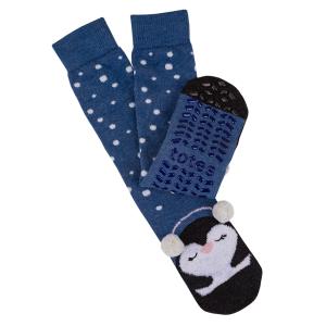Ladies Boxed Slipper Socks With Winter Animal Design Penguin