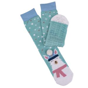 Ladies Boxed Slipper Socks With Winter Animal Design Llama