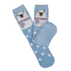 Ladies Boxed Novelty Slipper Socks Polar Bear
