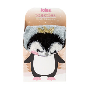 Ladies Boxed Novelty Slipper Socks Penguin