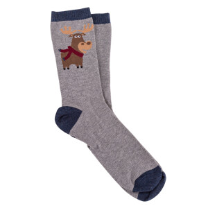 Men's Novelty Socks In A Box Moose
