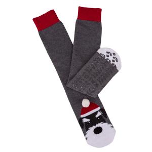 Men's Boxed Slipper Socks With Winter Animal Design Dog