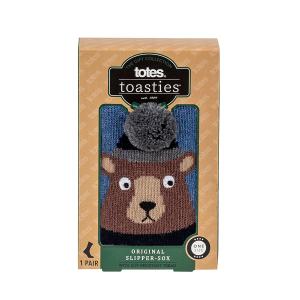 Men's Boxed Slipper Socks With Winter Animal Design Bear