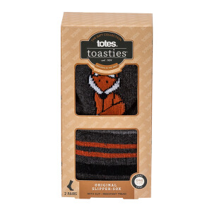 Men's 2Pack Slipper Socks Fox